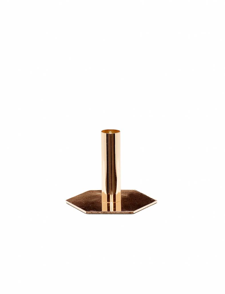 Gouden kandelaar Hübsch - medium