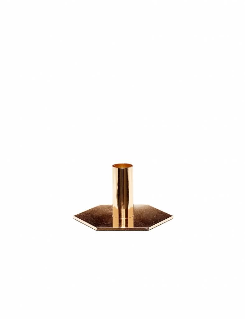 Gouden kandelaar Hübsch - klein