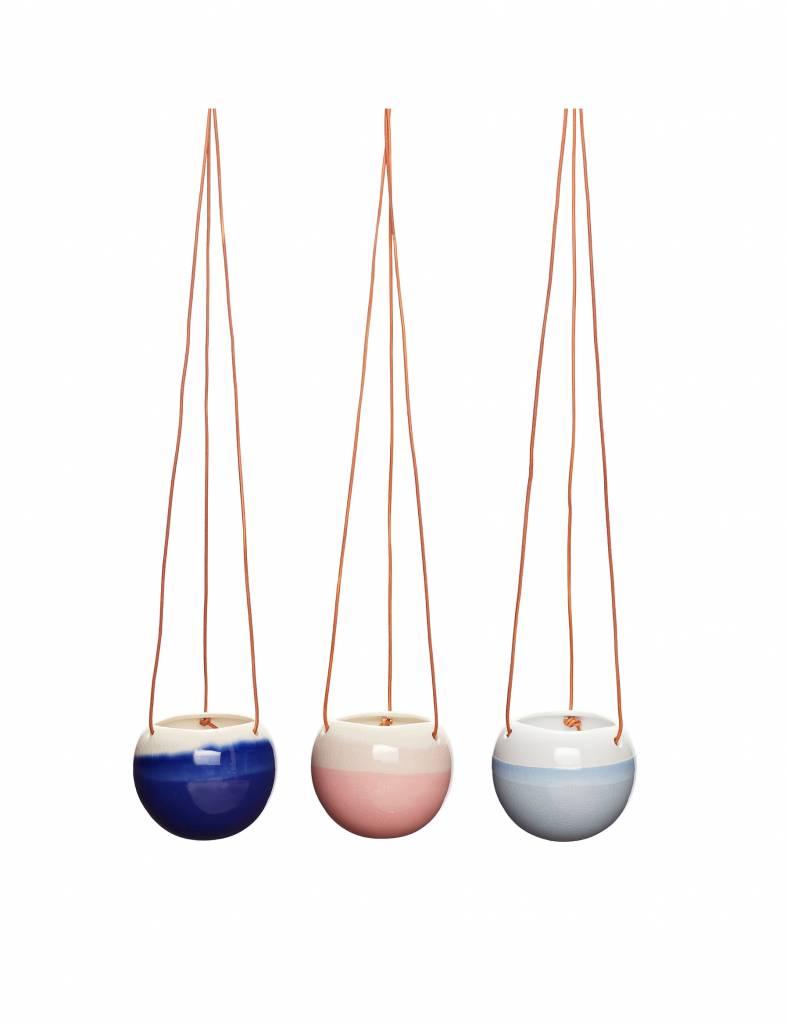 Hippe blauwe hangpot - Hübsch