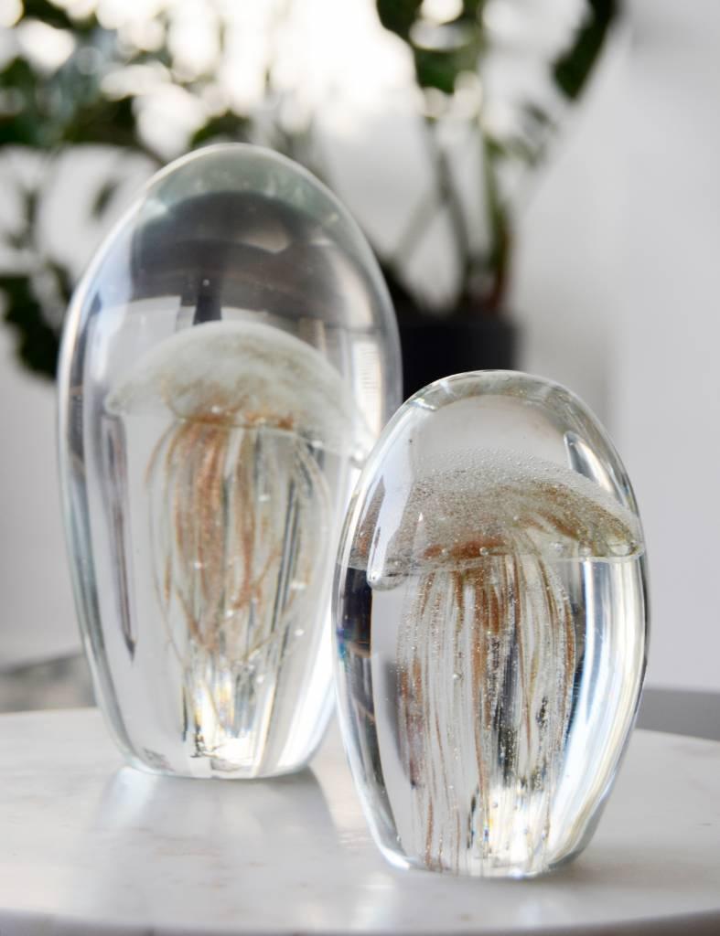 Decoratie glazen kwal - Presse-papiers - set van 2