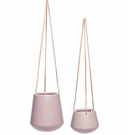 Set van 2 roze hangpotten