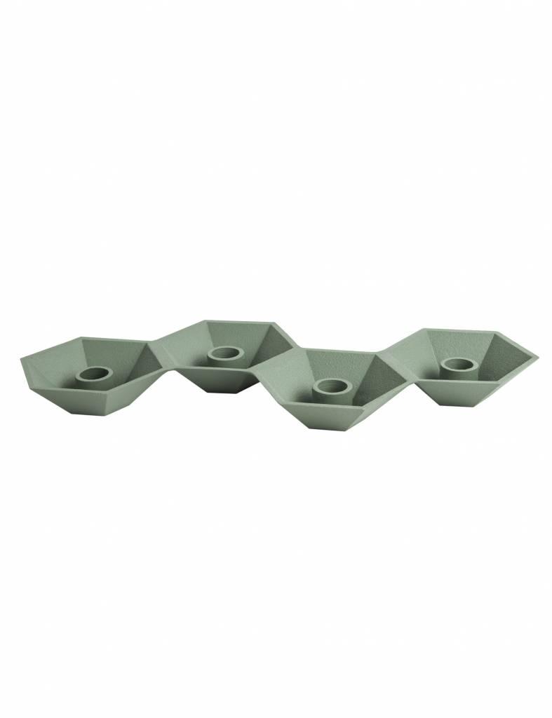 Groene kandelaar van Present time voor 4 kaarsen