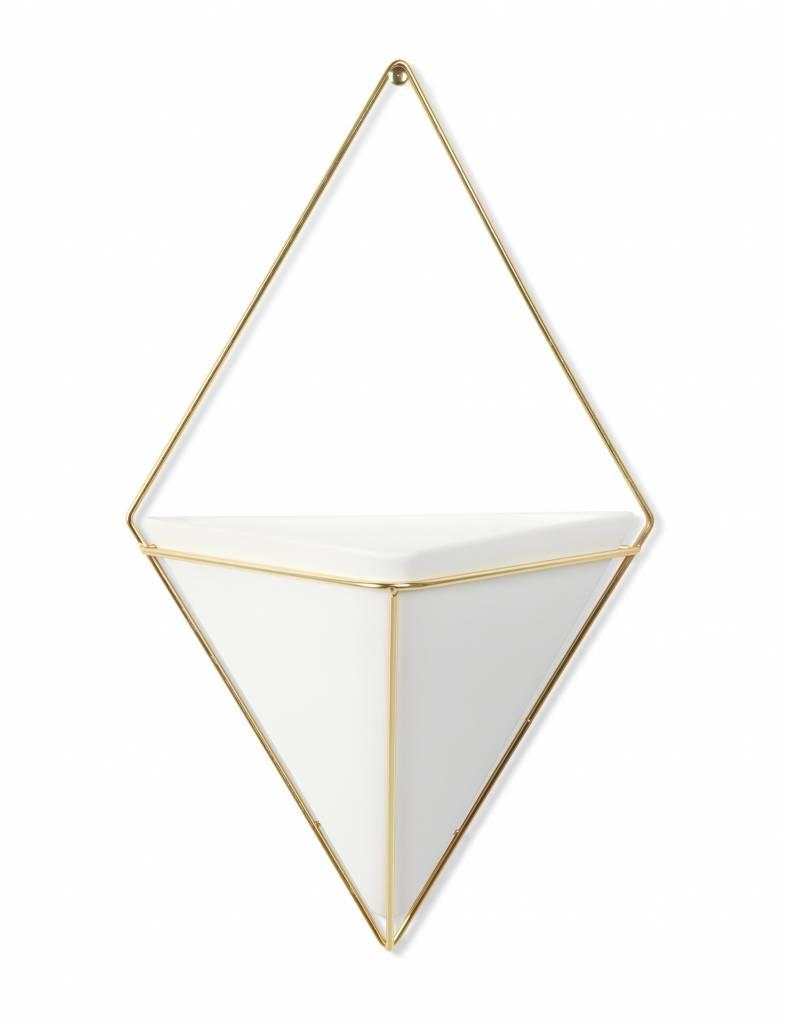 Wandbloempot 'Trigg large' in goud van Umbra