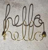 Gouden wanddecoratie 'Hello' van Umbra