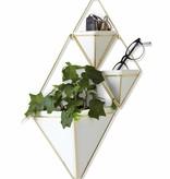 Wandbloempot 'Trigg wall small' van Umbra - set van 2