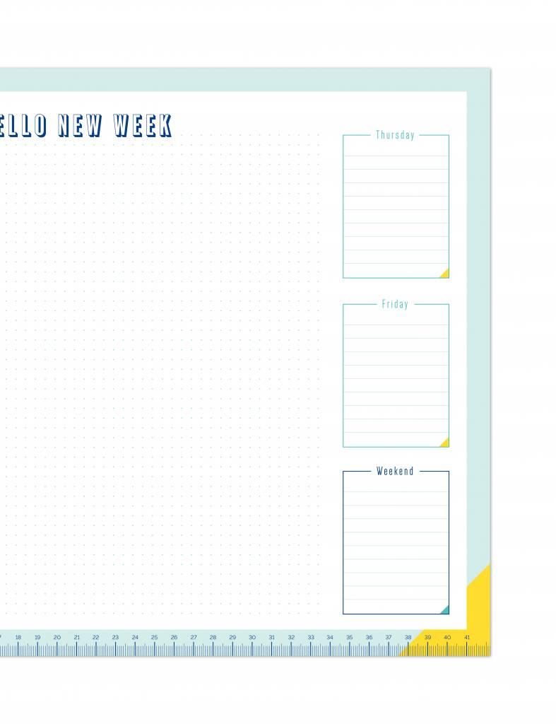 "Originele bullet ""weekplanner"" in A3-formaat"