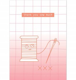 "Wenskaart ""Thank you sew much"""