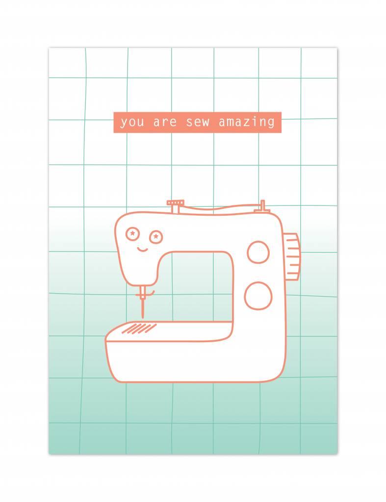 Wenskaartenset Sewing Love