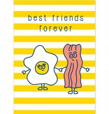 "Wenskaart Brunch ""Best friends forever"""