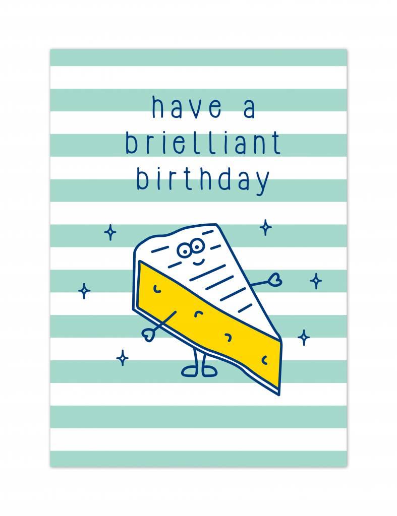 """Verjaardagskaart Brunch """"Brielliant birthday"""""""