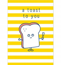"""Wenskaart Brunch """"A toast to you"""""""