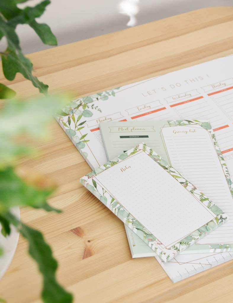 "Botanical ""meal planner"" - weekmenu op A5"