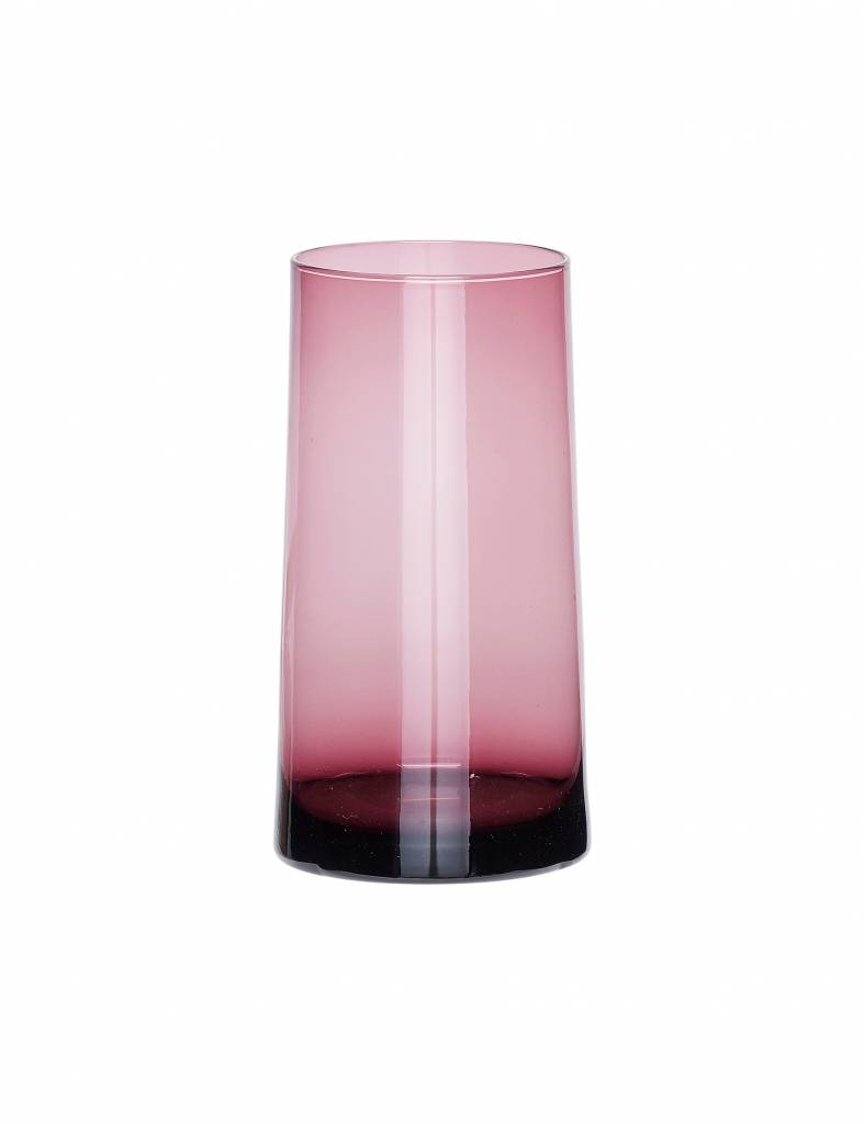 Roze glazen vaasje - Hübsch