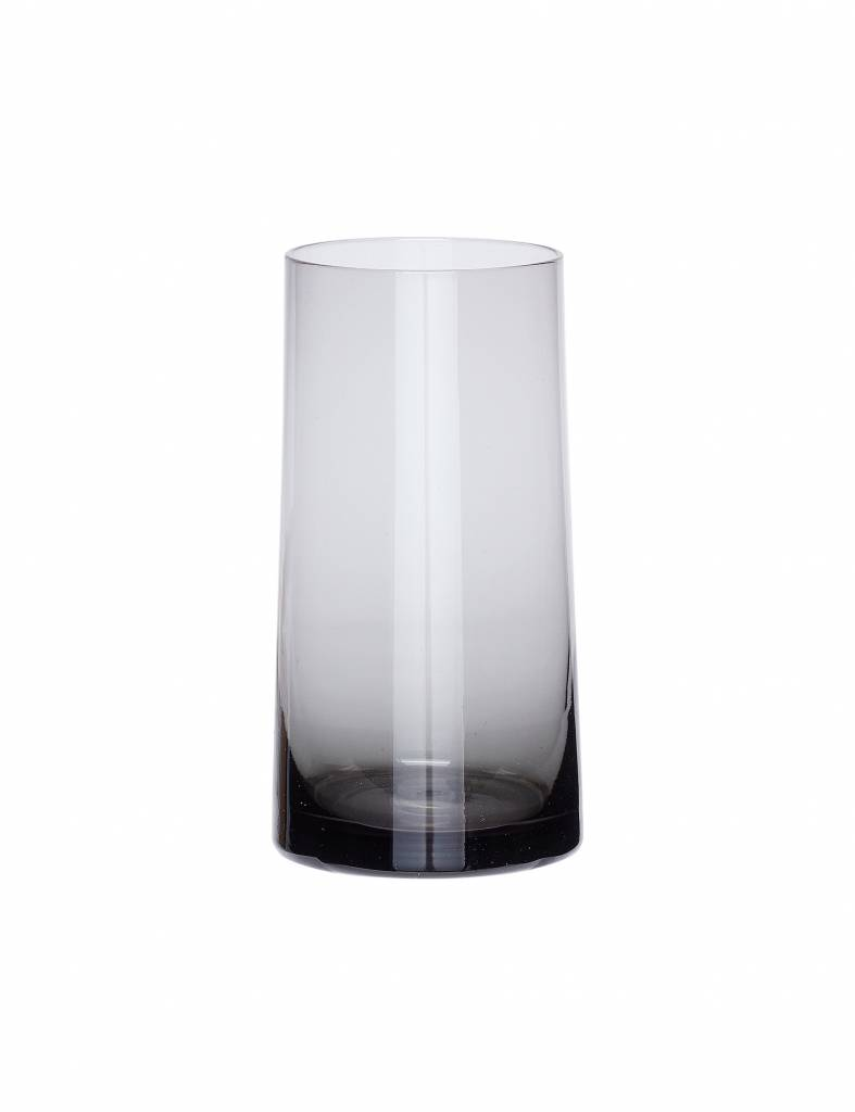 Grijs glazen vaasje - Hübsch
