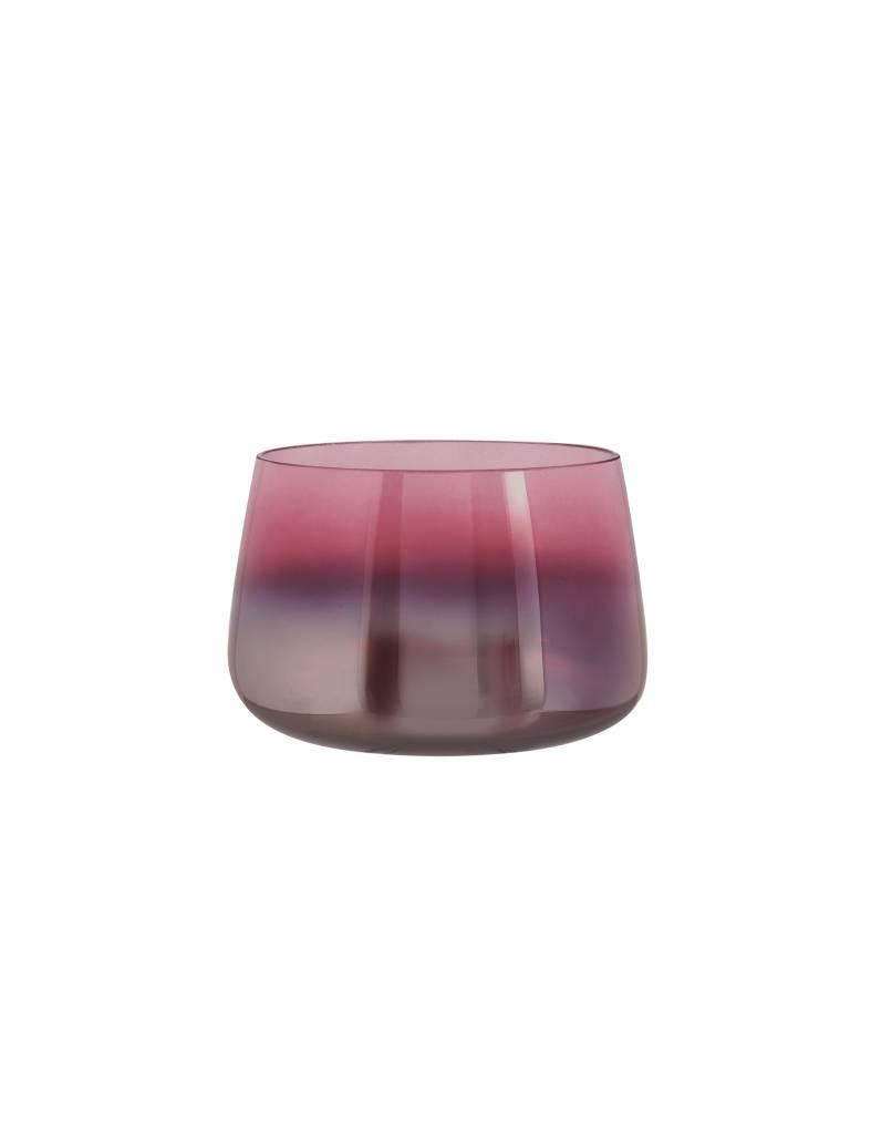 """Roze glazen vaas """"Oiled"""""""