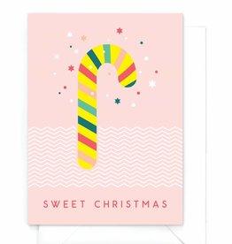 "Wenskaart Kerst  ""Candy cane"""
