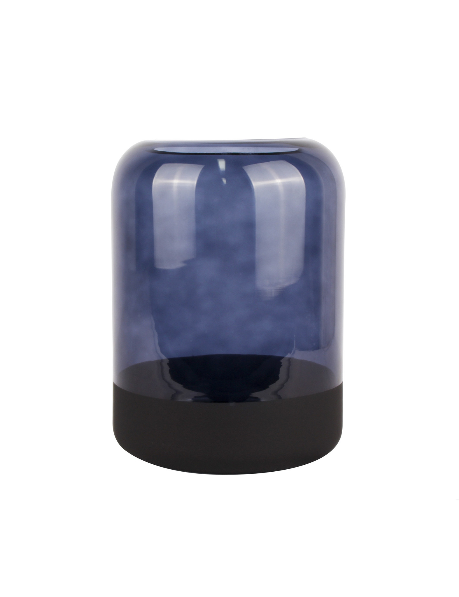 Blauwe glazen vaas - Present Time