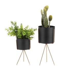 Zwarte plantenstaander