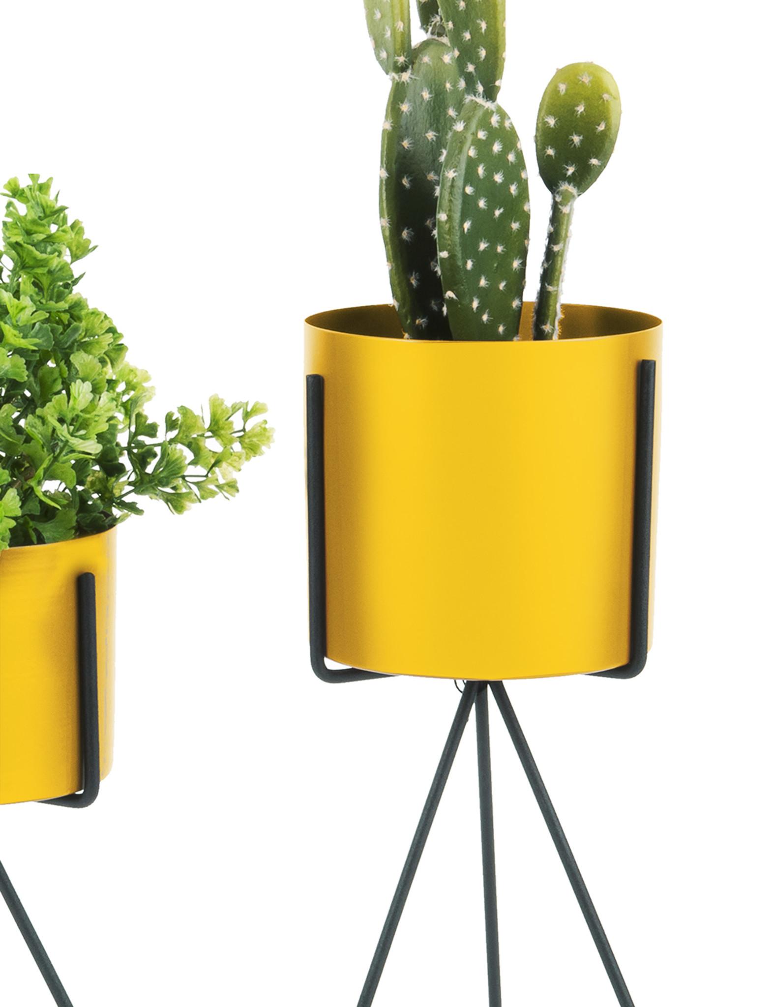 Set van 2 gele plantenstaanders - Present Time