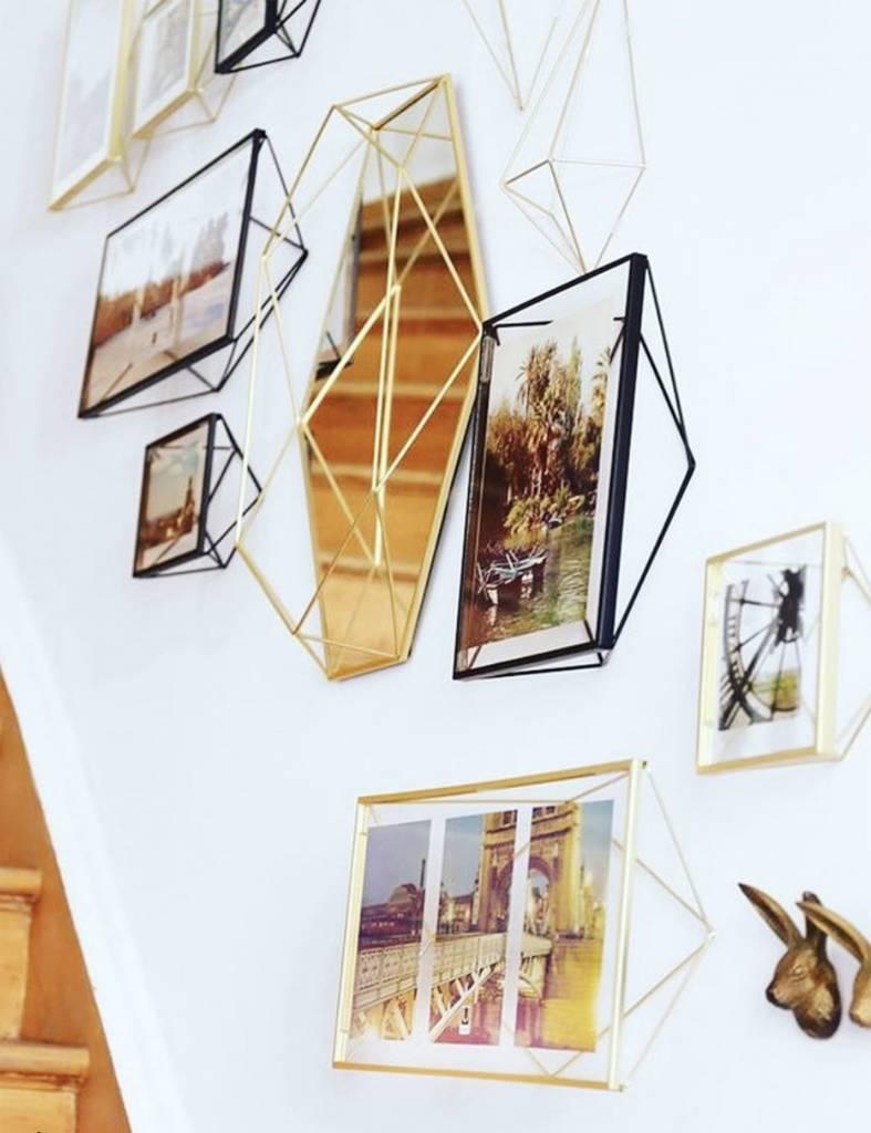 """Gouden en witte fotokaders """"Prisma"""" XS"""
