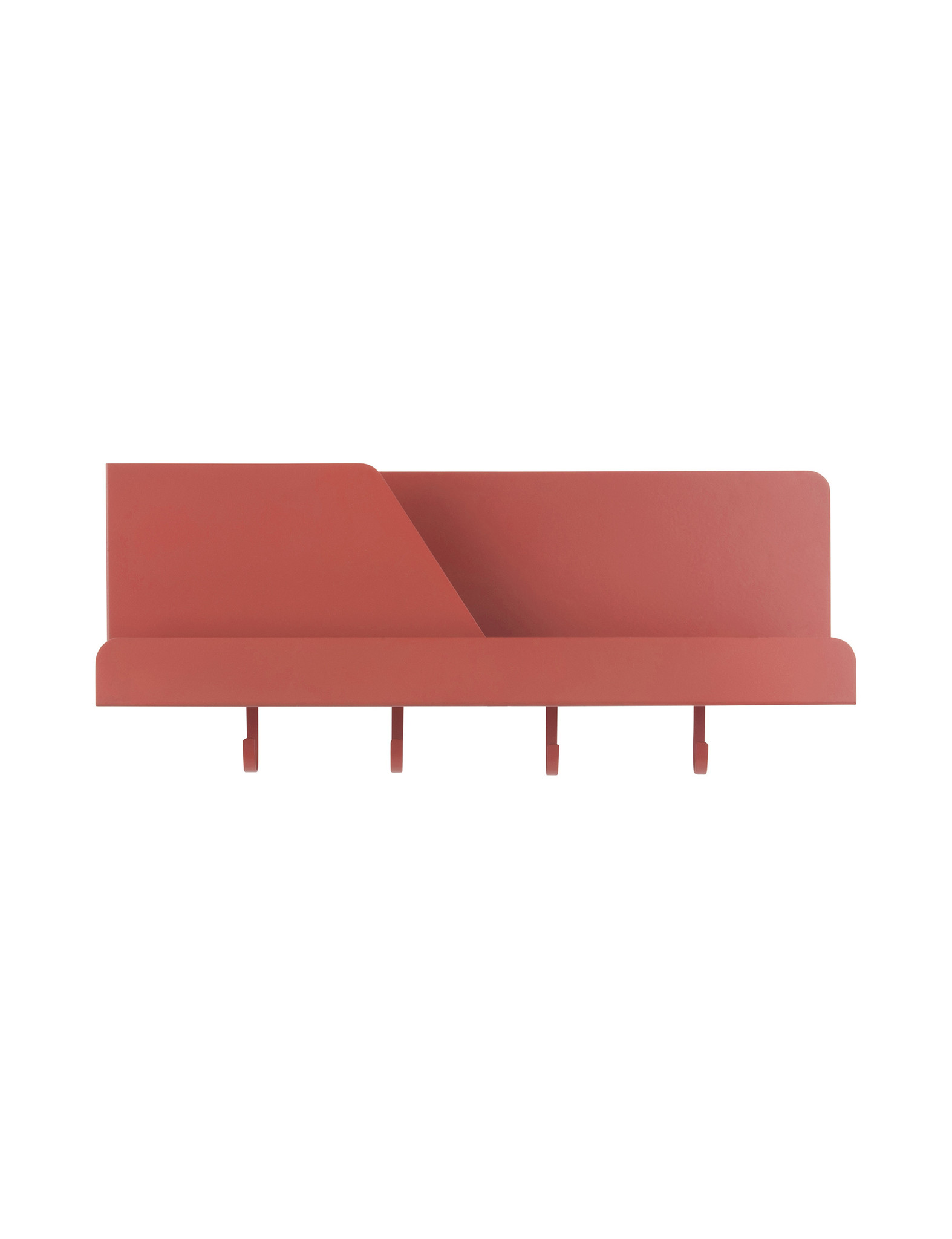 Prachtige roodbruine wall organizer - Present Time