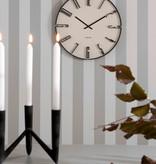 Zwarte kandelaar van Present time voor 3 kaarsen