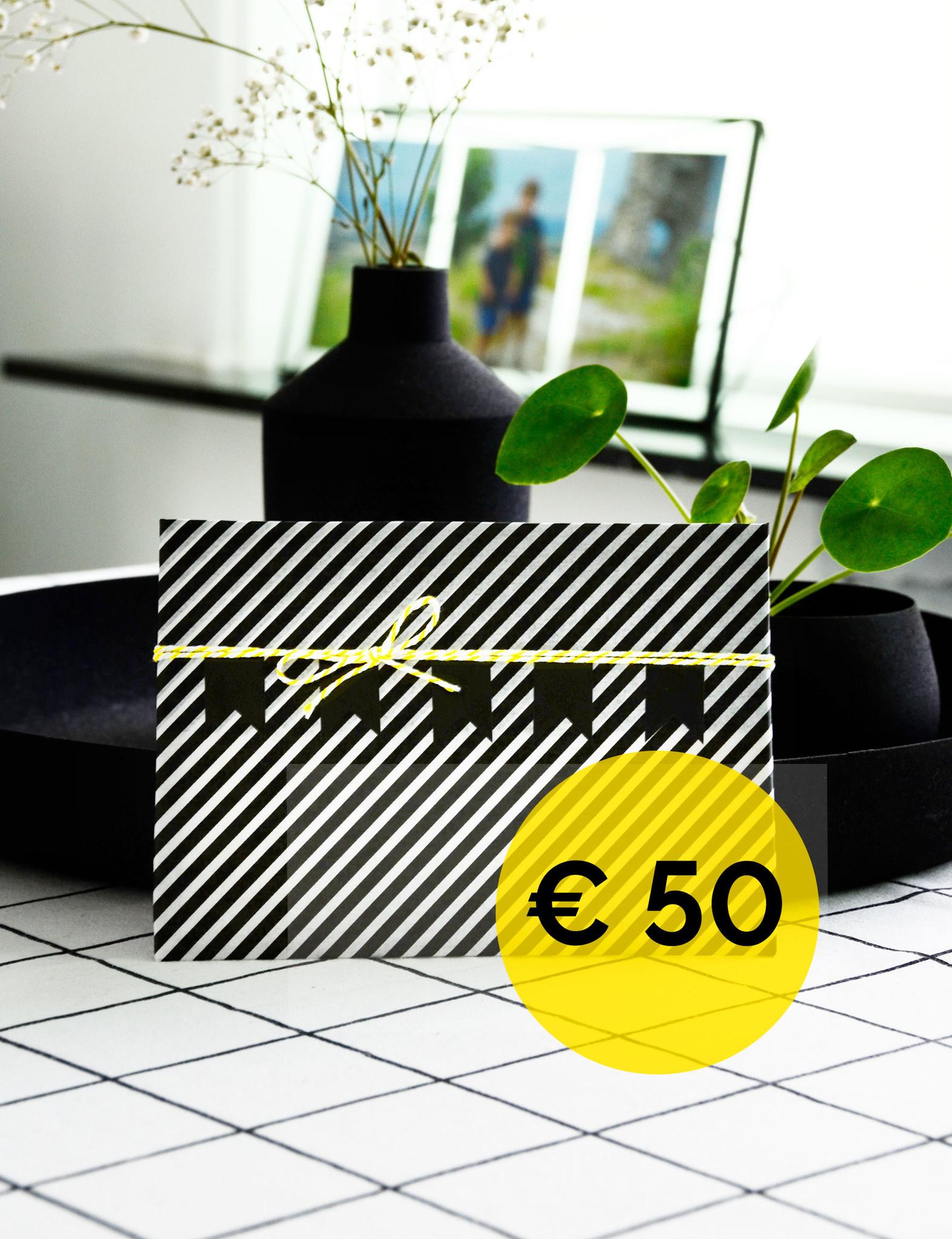 cadeaubon - waarde € 50,00