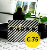 cadeaubon - waarde € 75