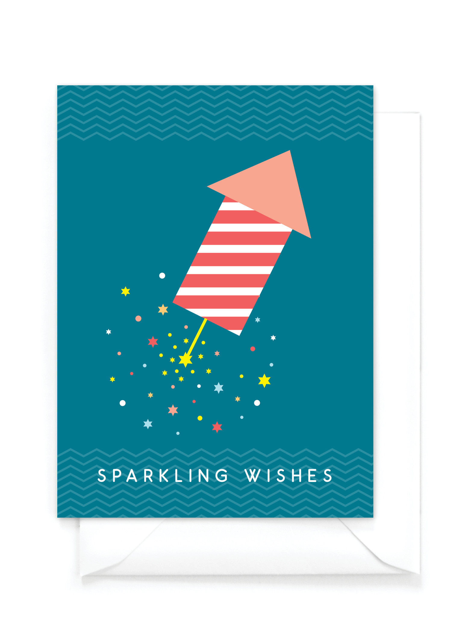 "Grappige kerstkaart  ""Sparkling wishes"" - Warm wishes"