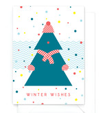 "Grappige kerstkaart  ""Winter wishes"" - Warm wishes"