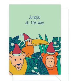 "Wenskaart Kerst ""Jungle all the way"""