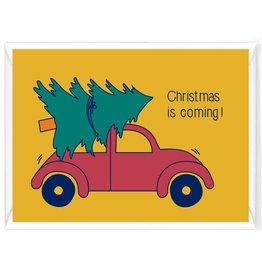 """Wenskaart Kerst """"Christmas is coming"""""""