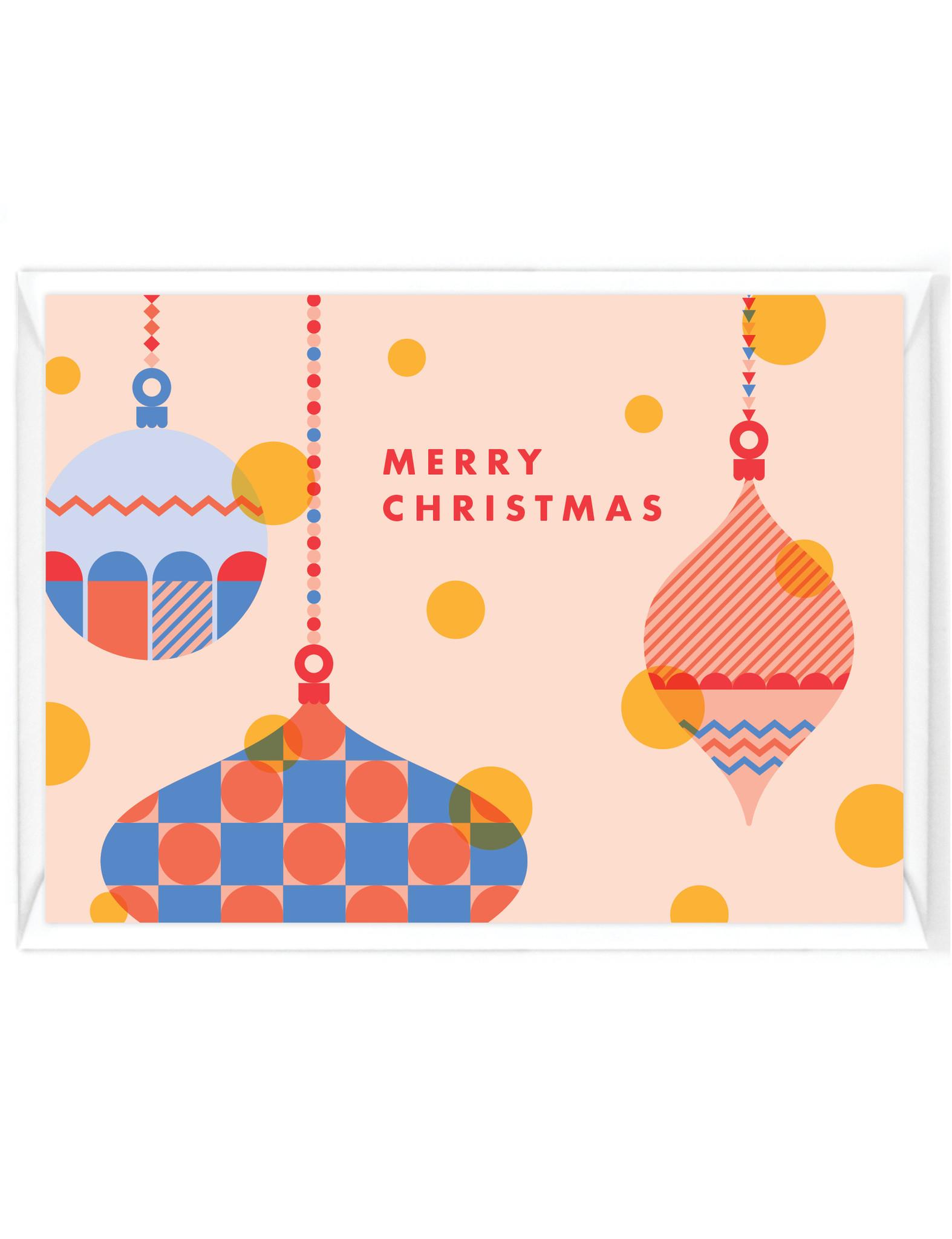 """Wenskaart - Kerst - """"Merry Christmas"""" - ornament"""