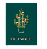 Wenskaart kerst - Oops, wrong tree