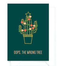 """Wenskaart kerst """"Wrong tree"""""""