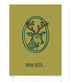 """Wenskaart kerst """"Ohhh deer"""""""