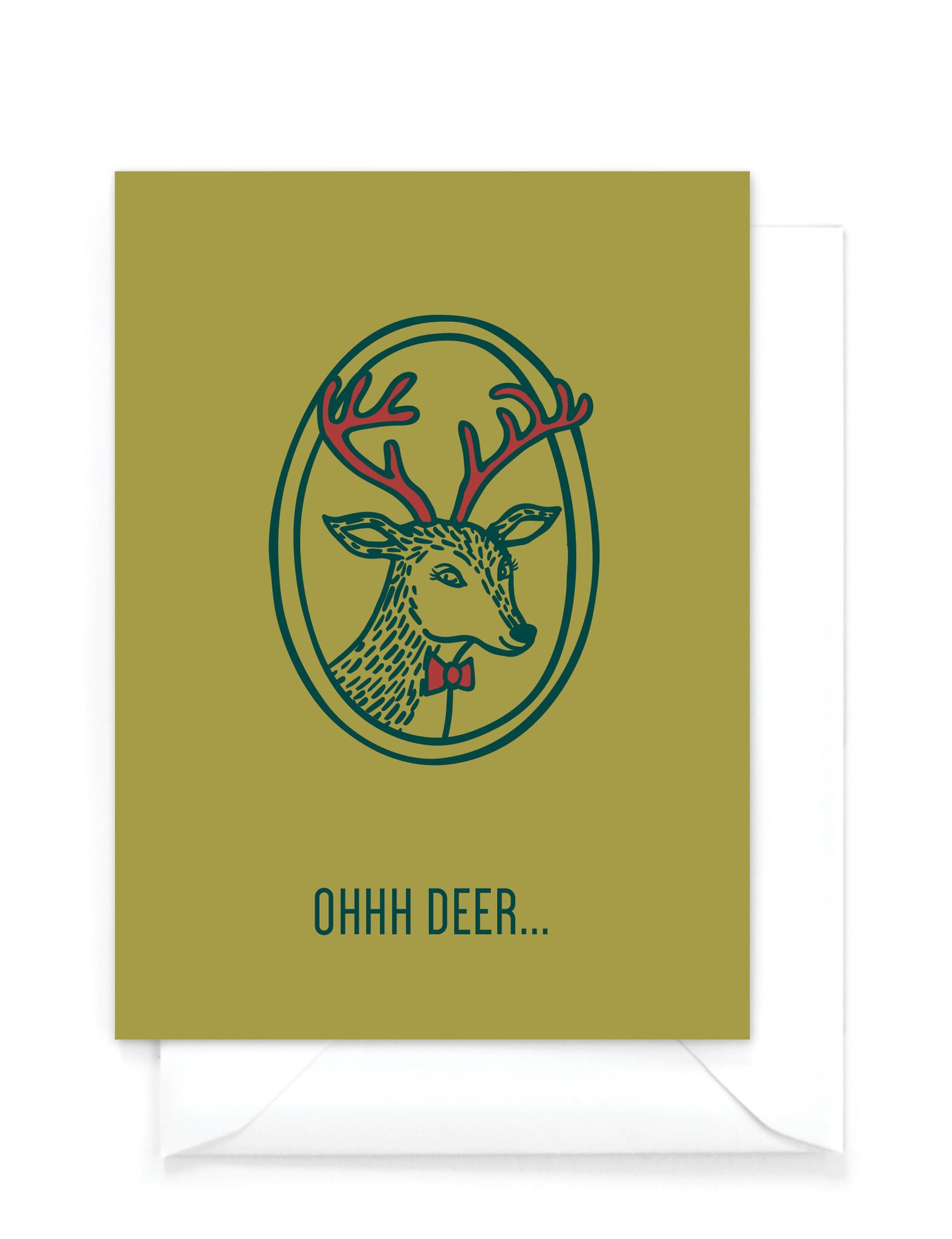Wenskaart kerst - Ohhh deer