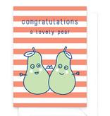 "Wenskaart Food ""Congratulations"" - a lovely pear"