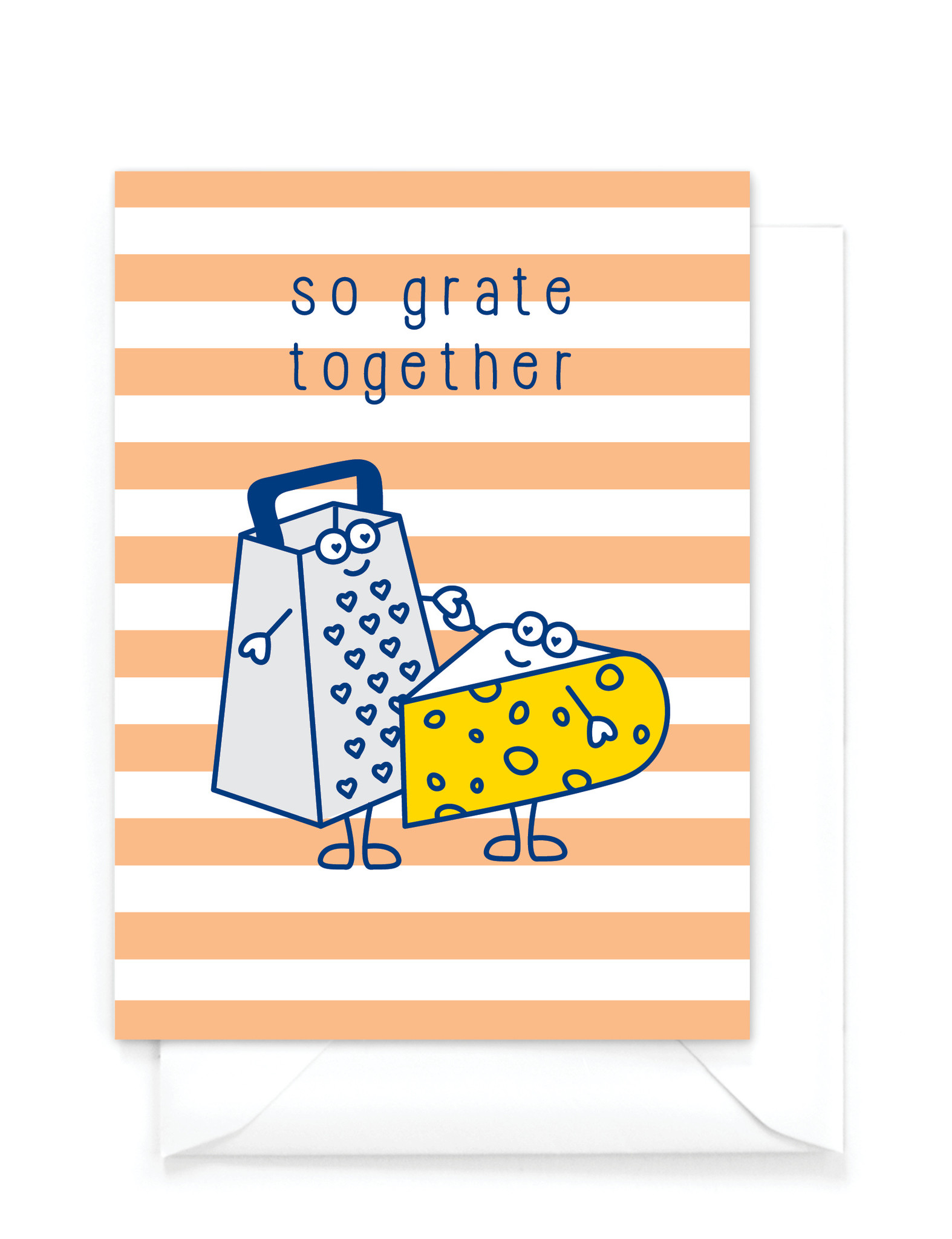 "Wenskaart Food ""So grate together"" - cheesy card"