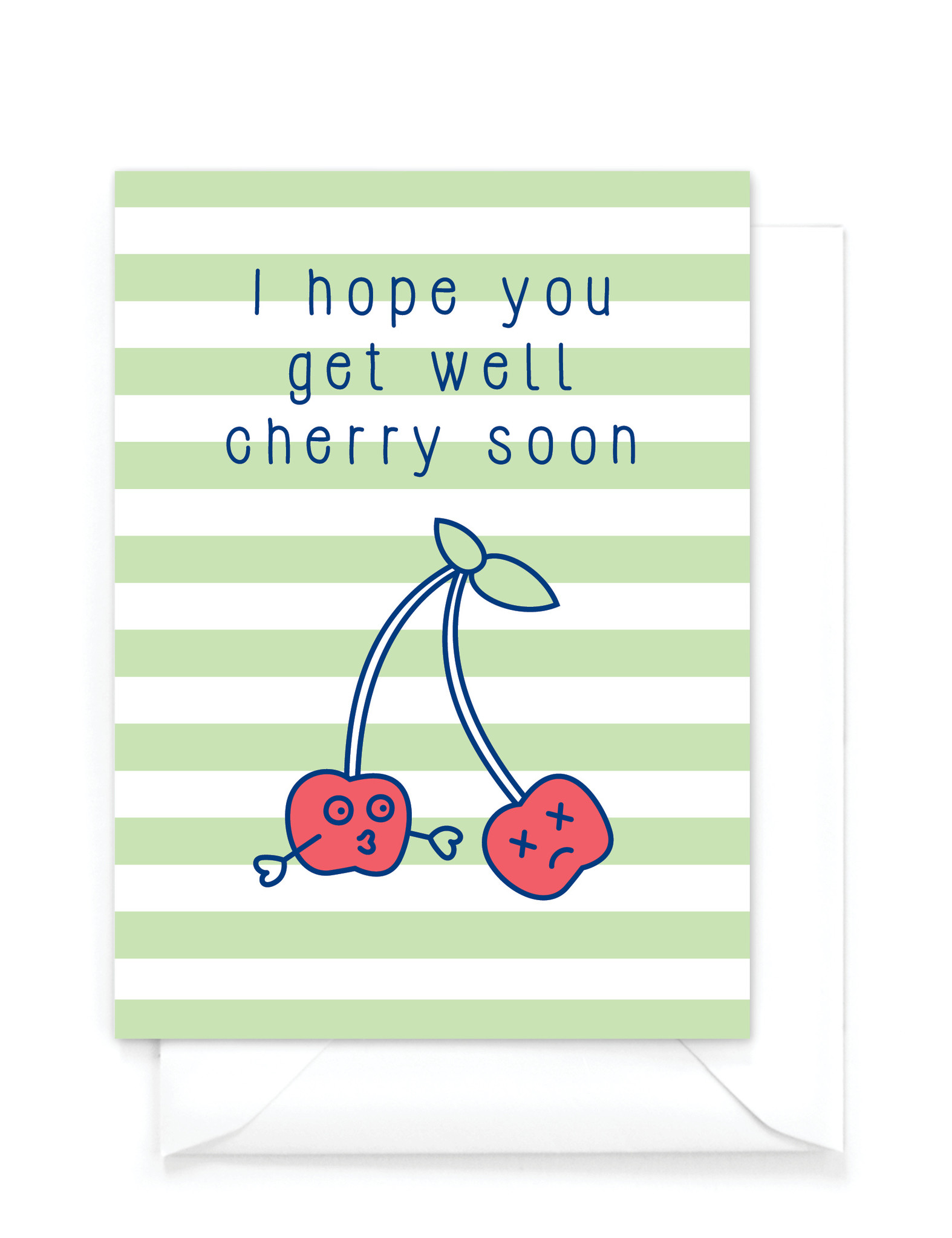 "Wenskaart Food ""Get well"" - cherry"