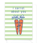 "Wenskaart Food ""I carrot about you"" - wortel"