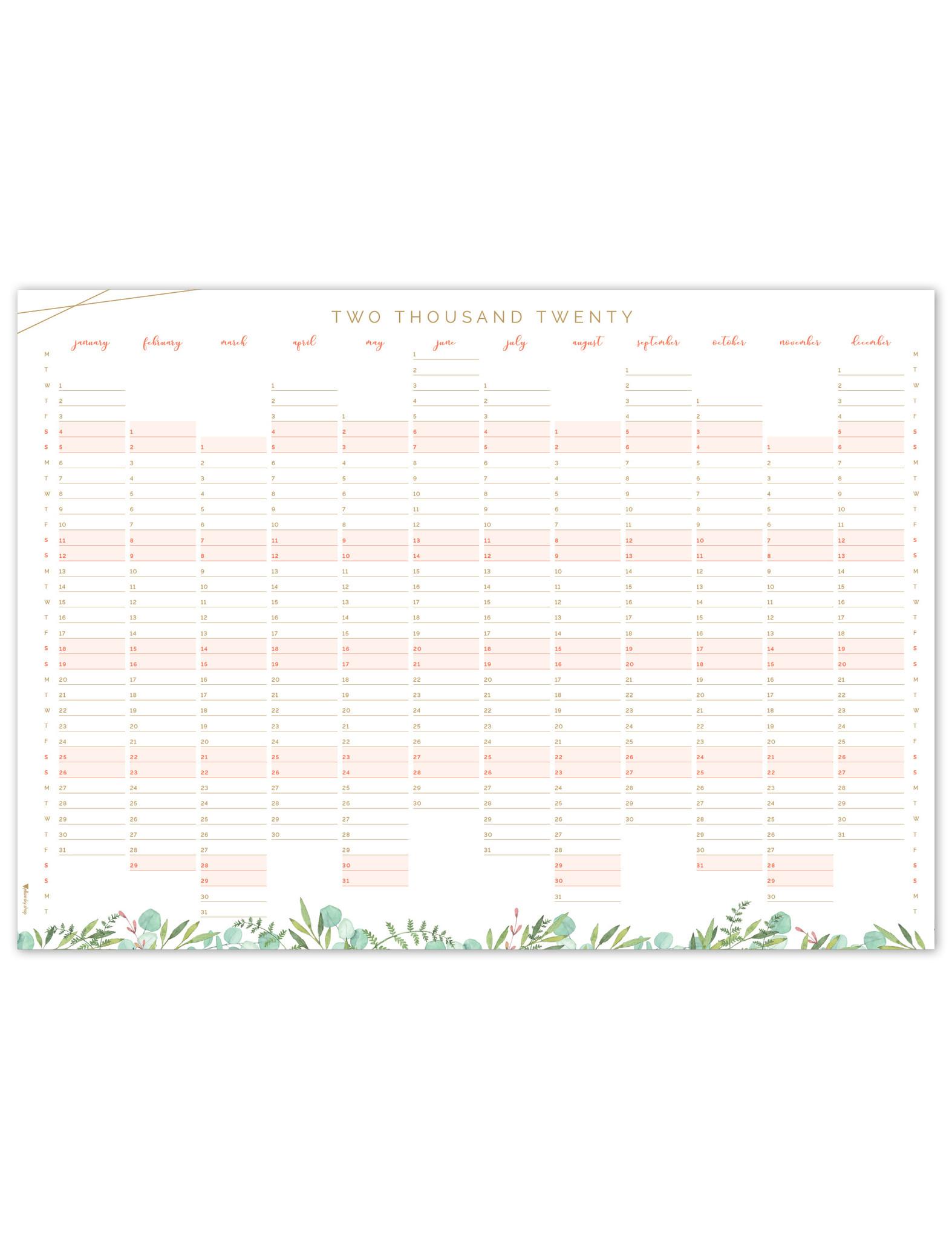 "Botanical ""jaarplanner"" in A2-formaat"