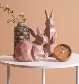 Roze origami konijn