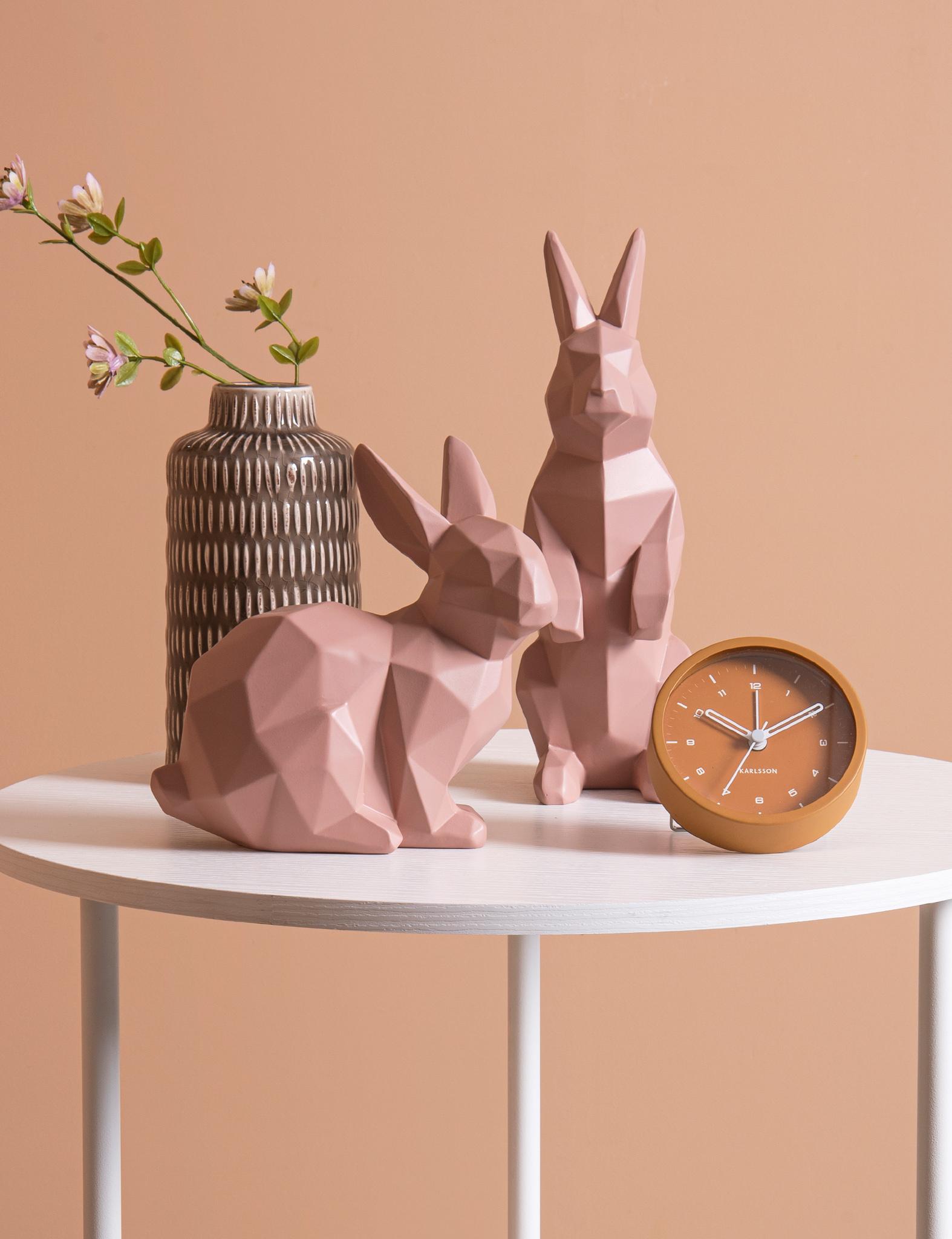 Roze origami konijn van Present time