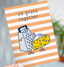 "Wenskaart Food ""So grate together"""
