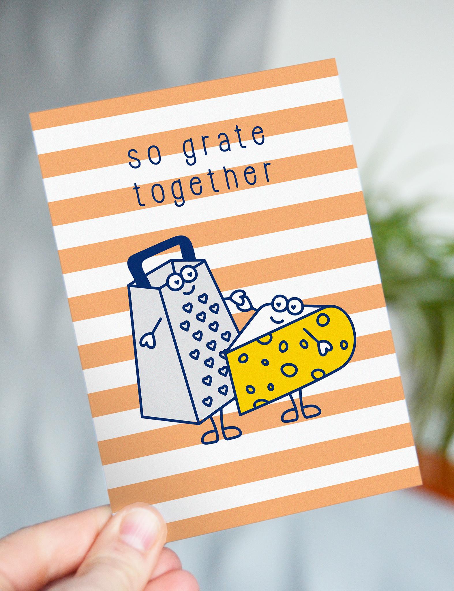 "Wenskaart Food ""So grate together"" - cheesy card"
