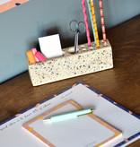 Terrazzo desk organizer van Hübsch