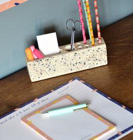 Terrazzo desk organizer