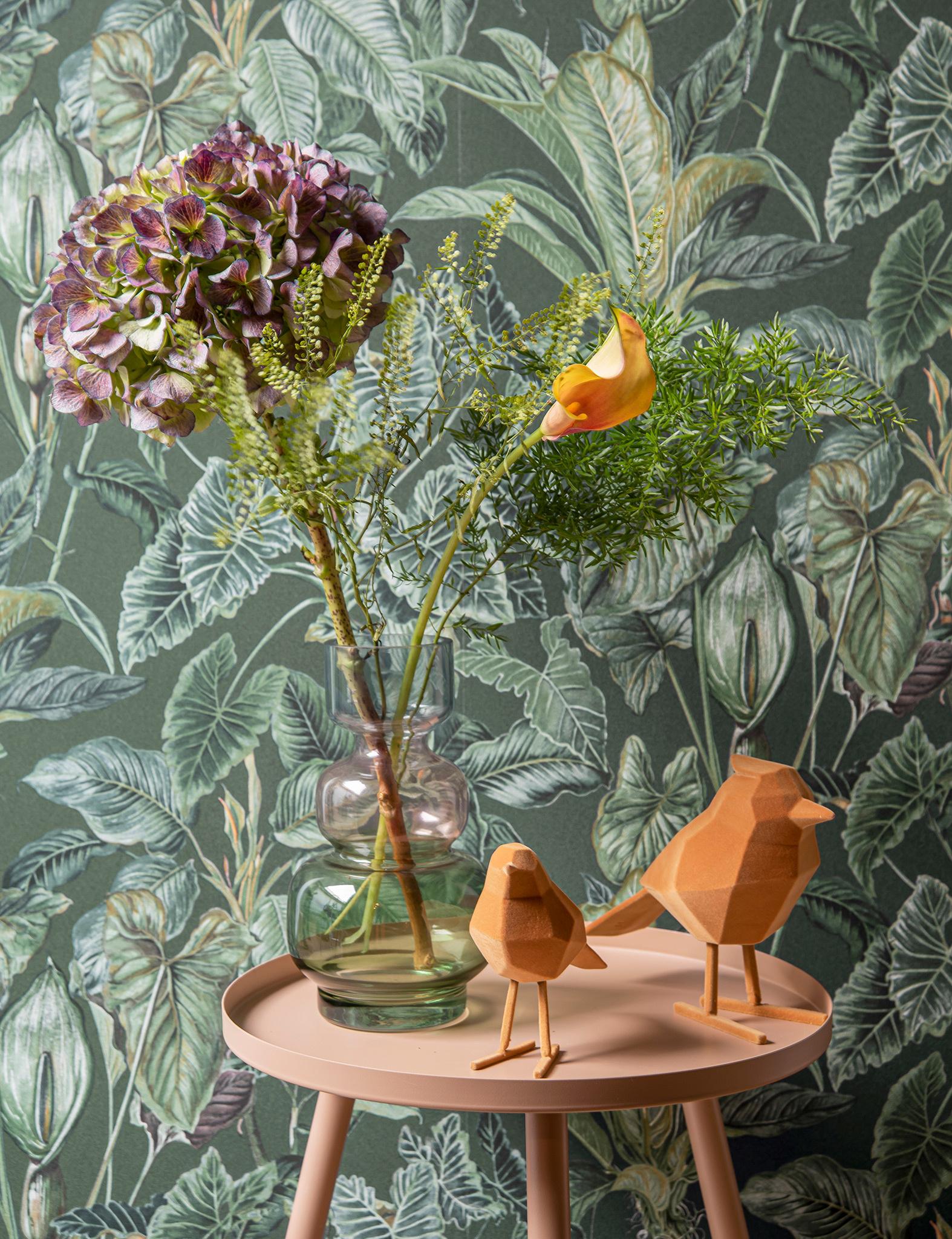 Oranjegele origami vogels van Present time