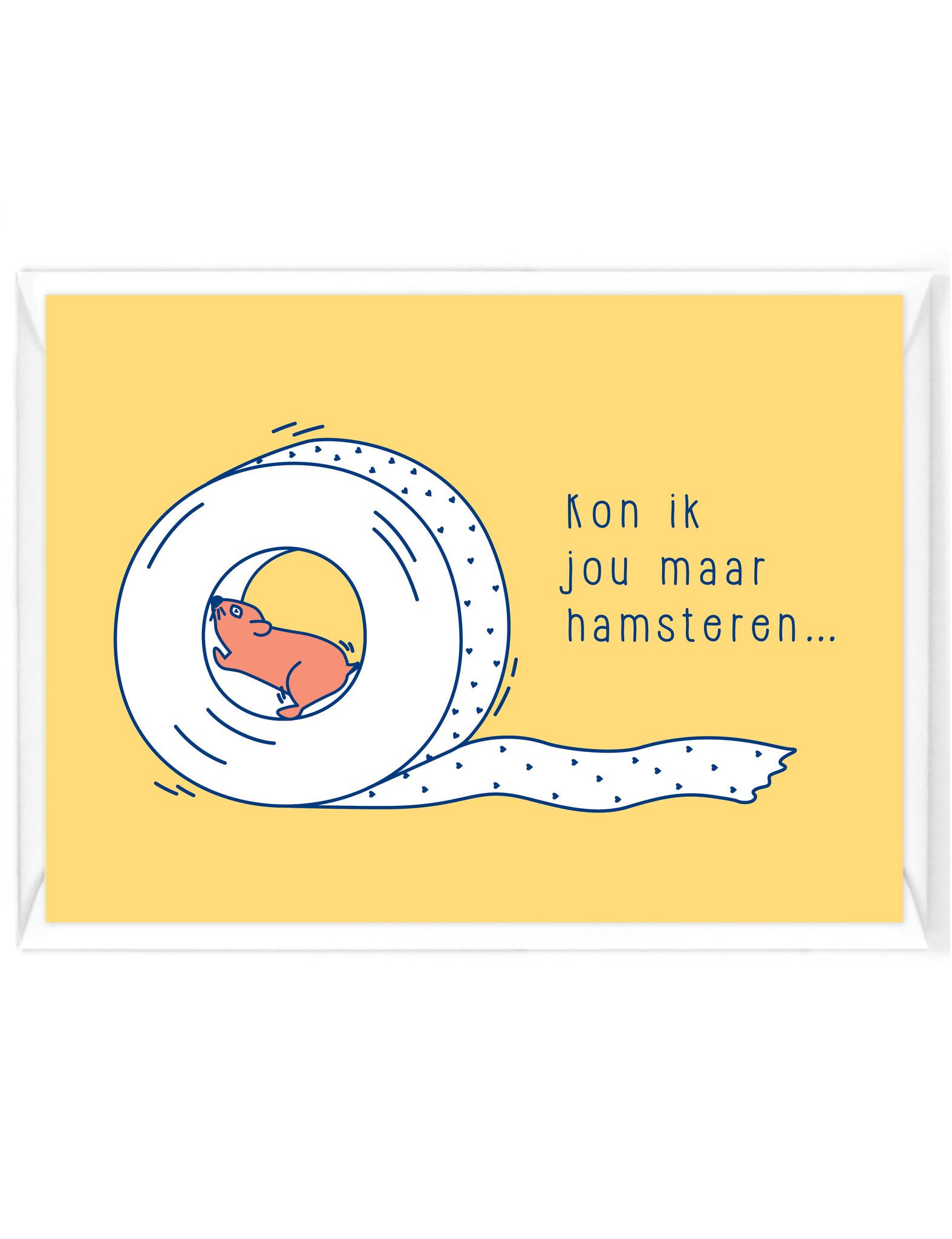 """Wenskaart Quarantaine """"Hamsteren"""""""